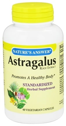 DROPPED: Nature's Answer - Astragalus Root Extract - 60 Vegetarian Capsules CLEARANCE PRICED