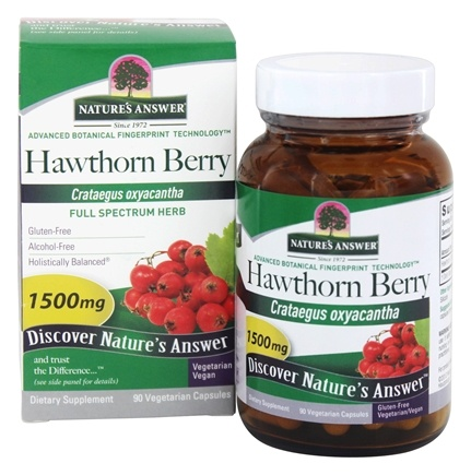 Nature's Answer - Hawthorn Berry Single Herb Supplement - 90 Vegetarian Capsules
