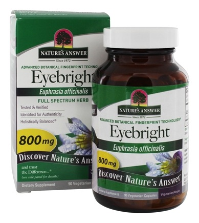 Nature's Answer - Eyebright Single Herb Supplement - 90 Vegetarian Capsules