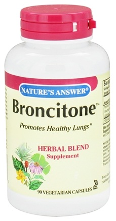 DROPPED: Nature's Answer - Broncitone Herbal Blend Supplement - 90 Vegetarian Capsules CLEARANCE PRICED