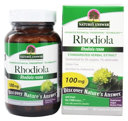 Nature's Answer - Rhodiola Root - 60 Vegetarian Capsules