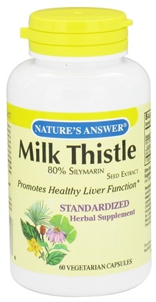DROPPED: Nature's Answer - Milk Thistle 80% Silymarin Seed Extract - 60 Vegetarian Capsules CLEARANCE PRICED