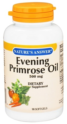 DROPPED: Nature's Answer - Evening Primrose Oil 500 mg. - 90 Softgels