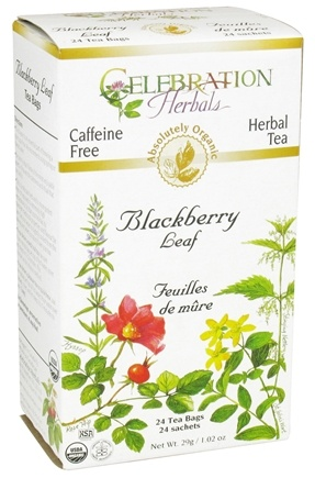 DROPPED: Celebration Herbals - Organic Caffeine Free Blackberry Leaf Herbal Tea - 24 Tea Bags CLEARANCE PRICED