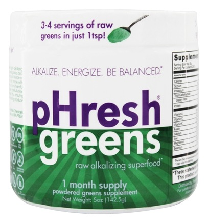 DROPPED: Phresh Products - Phresh Greens 100% Raw Organic Alkalizing Powdered Superfood - 5 oz.
