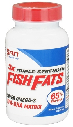DROPPED: SAN Nutrition - Fish Fats 3X Triple Strength Super Omega-3 - 60 Softgels CLEARANCE PRICED