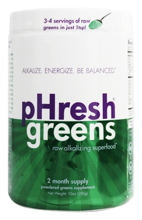 Phresh Products - Phresh Greens 100% Raw Organic Alkalizing Powdered Superfood - 10 oz.