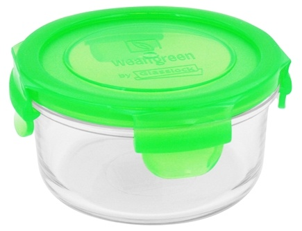 DROPPED: Wean Green - Glass Lunch Bowl Pea - 13 oz. CLEARANCE PRICED