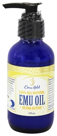 DROPPED: Emu Gold - 100% All Natural Emu Oil Ultra Active - 4 oz.