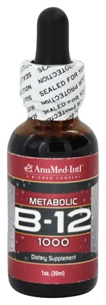 AnuMed - Metabolic B-12 Liquid Drops 1000 mcg. - 1 oz.