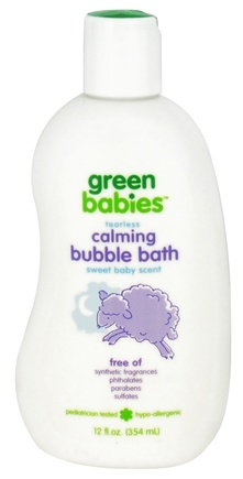 DROPPED: Green Babies - Calming Tearless Bubble Bath Sweet Baby Scent - 12 oz. CLEARANCE PRICED