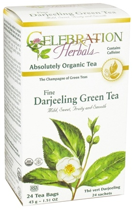 DROPPED: Celebration Herbals - Organic Darjeeling Green Tea - 24 Tea Bags CLEARANCE PRICED