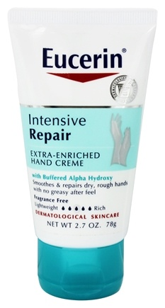 Eucerin - Intensive Repair Extra-Enriched Hand Creme Fragrance Free - 2.7 oz.