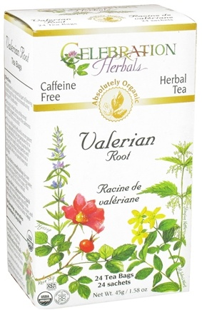 DROPPED: Celebration Herbals - Organic Caffeine Free Valerian Root Herbal Tea - 24 Tea Bags CLEARANCE PRICED