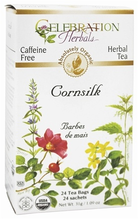 Celebration Herbals - Organic Caffeine Free Cornsilk Herbal Tea - 24 Tea Bags