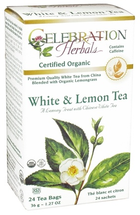 DROPPED: Celebration Herbals - Organic White & Lemon Herbal Tea - 24 Tea Bags CLEARANCE PRICED