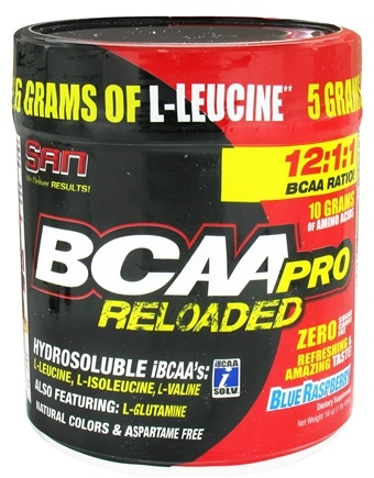 DROPPED: SAN Nutrition - BCAA Pro Reloaded Blue Raspberry - 16 oz. CLEARANCE PRICED
