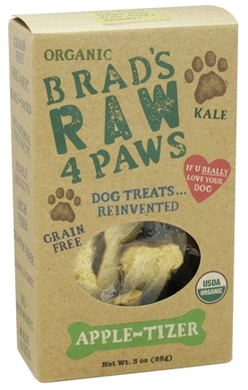 DROPPED: Brad's Raw Foods - Raw 4 Paws Dog Treats Apple-Tizer - 3 oz. CLEARANCE PRICED