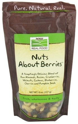 DROPPED: NOW Foods - Real Food Nuts About Berries - 8 oz. CLEARANCE PRICED