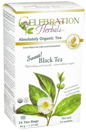 DROPPED: Celebration Herbals - Organic Sweet Black Herbal Tea - 24 Tea Bags CLEARANCE PRICED