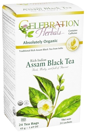 DROPPED: Celebration Herbals - Organic Rich Indian Assam Black Tea - 24 Tea Bags CLEARANCE PRICED