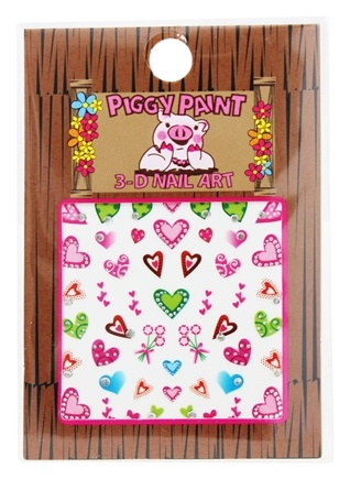 Piggy Paint - 3-D Nail Art Heart - 1 Sheet(s)