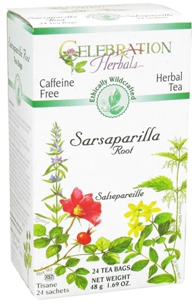 DROPPED: Celebration Herbals - Ethically Wildcrafted Caffeine Free Sarsaparillia Root Herbal Tea - 24 Tea Bags CLEARANCE PRICED