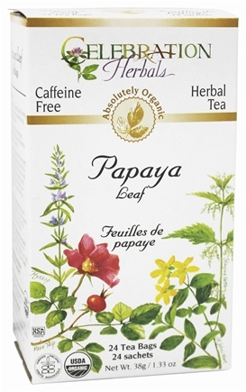 Celebration Herbals - Organic Caffeine Free Papaya Leaf Herbal Tea - 24 Tea Bags