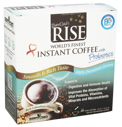 DROPPED: BarnDad - Rise World's Finest Instant Coffee with Probiotics - 30 Serving(s) CLEARANCE PRICED