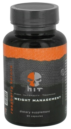 DROPPED: HIT Supplements - Raspberry Ketone Weight Management - 60 Capsules CLEARANCE PRICED