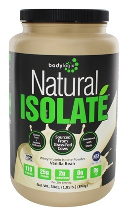 Bodylogix - Natural Isolate Whey Protein Natural Vanilla Bean - 1.85 lbs.