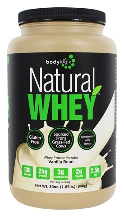 Bodylogix - Natural Whey Protein Natural Vanilla Bean - 1.85 lbs.