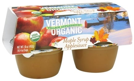 DROPPED: Vermont Village - Organic Applesauce Maple Syrup - 4 x 4 oz. Cups CLEARANCE PRICED