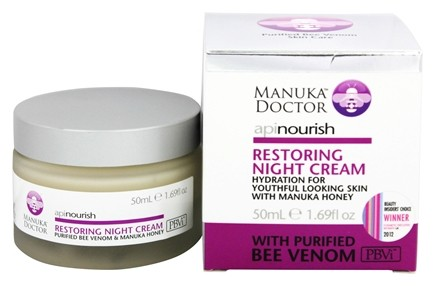 DROPPED: Manuka Doctor - ApiNourish Restoring Night Cream With Purified Bee Venom - 1.69 oz.