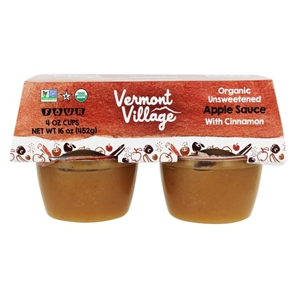 DROPPED: Vermont Village - Organic Applesauce Cinnamon - 4 x 4 oz. Cups