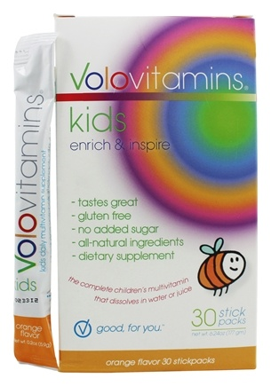 DROPPED: Volo Vitamins - VoloKids Daily Multivitamin Orange Flavor - 30 Stick(s) CLEARANCE PRICED