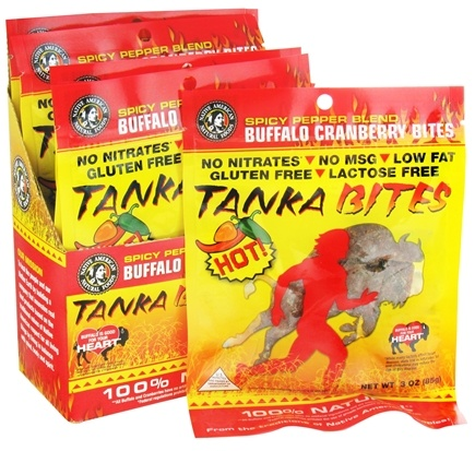 DROPPED: Tanka Bar - Buffalo Cranberry Bites Hot - 3 oz. CLEARANCE PRICED