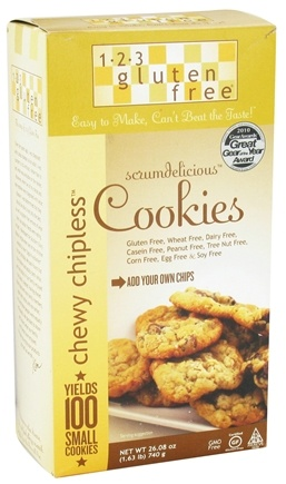 123 Gluten Free - Chewy Chipless Scrumdelicous Cookie Mix - 26.08 oz.
