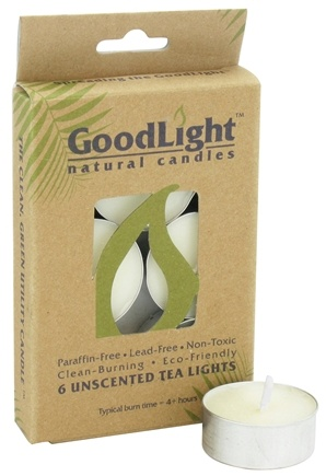 DROPPED: GoodLight Natural Candles - Tea Lights Unscented - 6 Count CLEARANCE PRICED