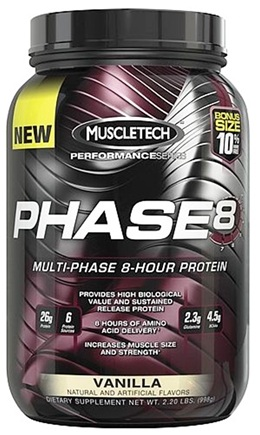 DROPPED: Muscletech Products - Phase8 Performance Series Multi-Phase 8-Hour Protein Vanilla Bonus Size - 2.2 lbs.