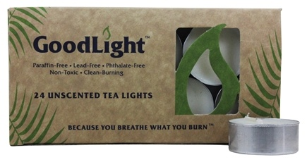 GoodLight Natural Candles - Tea Lights Unscented - 24 Count