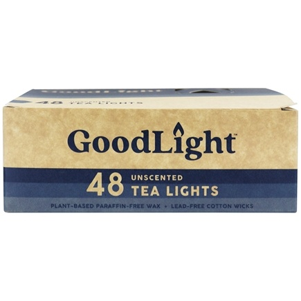 GoodLight Natural Candles - Tea Lights Unscented - 48 Count