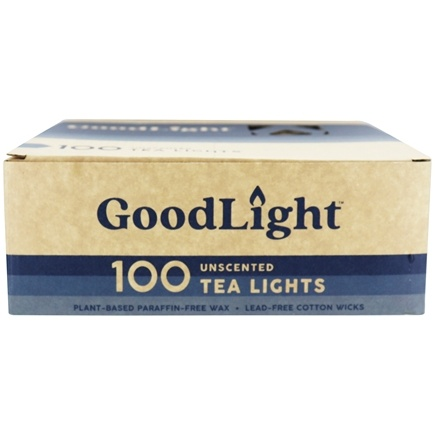 GoodLight Natural Candles - Tea Lights Unscented - 100 Count