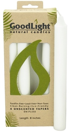 GoodLight Natural Candles - 8 Inch Tapers Unscented - 4 Count