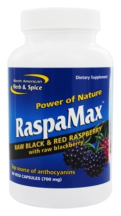 DROPPED: North American Herb & Spice - Power of Nature RaspaMax Berry Blend - 60 Vegetarian Capsules CLEARANCE PRICED