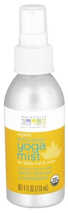 DROPPED: Aura Cacia - Organic Yoga Mist Motivating Sweet Orange & Peppermint - 4 oz. CLEARANCE PRICED