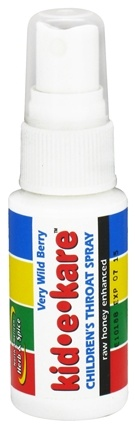 DROPPED: North American Herb & Spice - Kid-e-kare Children's Throat Spray Wild Berry - 1 oz. CLEARANCE PRICED