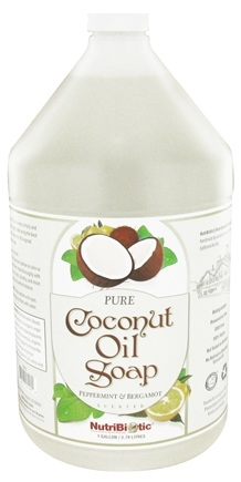 DROPPED: Nutribiotic - Pure Coconut Oil Soap Peppermint & Bergamot - 1 Gallon