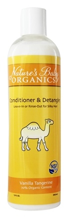DROPPED: Nature's Baby Organics - Conditioner & Detangler Vanilla Tangerine - 12 oz.