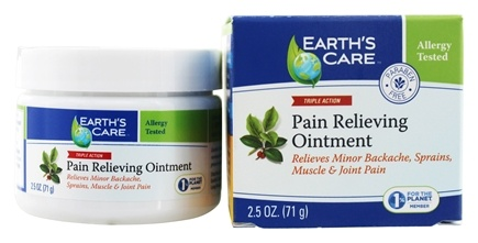 DROPPED: Earth's Care - Pain Relieving Ointment Triple Action - 2.5 oz.